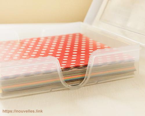 ダイソーの折り紙ケース