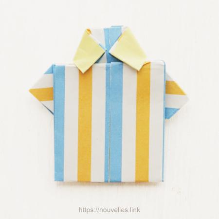 ダイソーの折り紙ブック⑥ おもちゃおりがみ シャツ