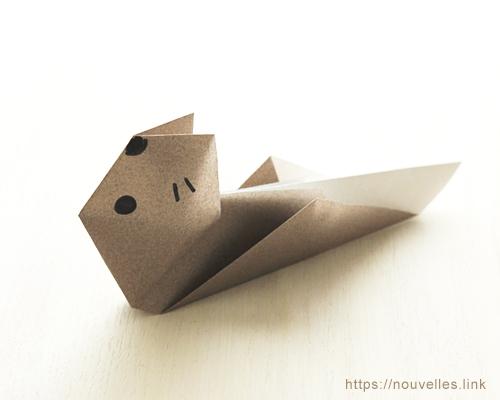 ダイソーの折り紙ブック③ いきものおりがみ ラッコ