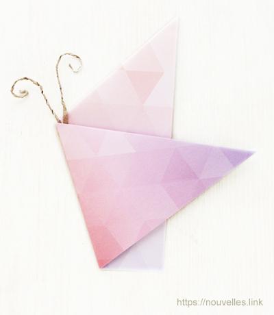 ダイソーの折り紙ブック① はじめてのおりがみ ちょうちょ