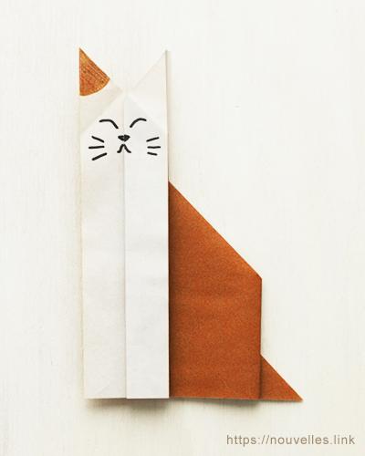 ダイソーの折り紙ブック③ いきものおりがみ ねこ
