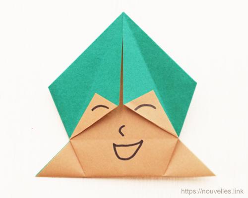 ダイソーの折り紙ブック⑥ おもちゃおりがみ 顔遊び