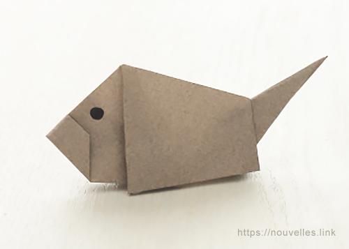 ダイソーの折り紙ブック③ いきものおりがみ イノシシ