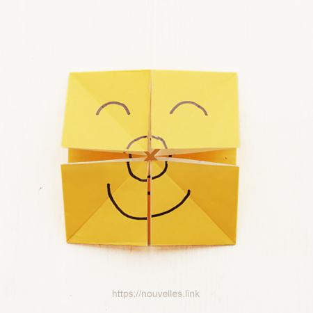 ダイソーの折り紙ブック⑥ おもちゃおりがみ 百面相