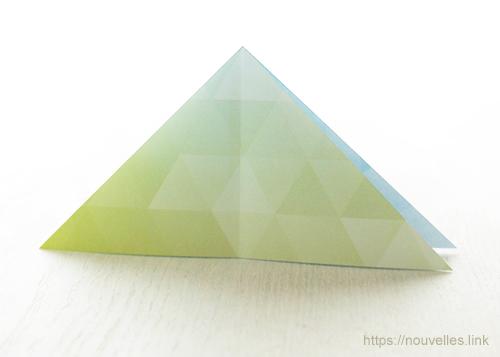 ダイソーの折り紙ブック① はじめてのおりがみ 山