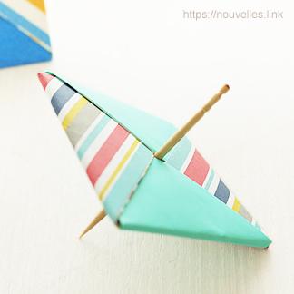 ダイソーの折り紙ブック⑥ おもちゃおりがみ 独楽