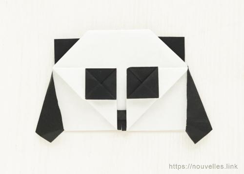ダイソーの折り紙ブック③ いきものおりがみ パンダ