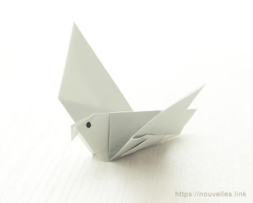 ダイソーの折り紙ブック③ いきものおりがみ 鳩