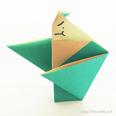 ダイソーの折り紙ブック⑥ おもちゃおりがみ お相撲さん
