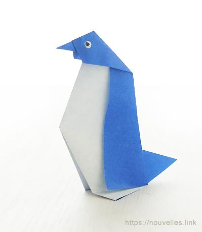 ダイソーの折り紙ブック③ いきものおりがみ ペンギン