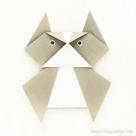 ダイソーの折り紙ブック③ いきものおりがみ みみずく