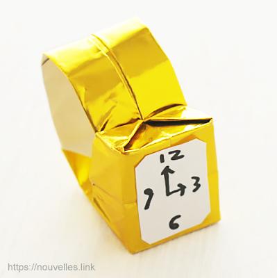 ダイソーの折り紙ブック⑥ おもちゃおりがみ 腕時計