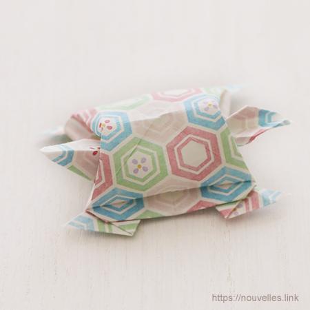 ダイソーの折り紙ブック5 きせつのおりがみ 寿亀