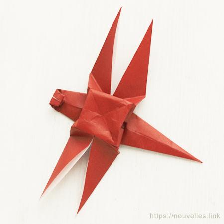 ダイソーの折り紙ブック③ いきものおりがみ トンボ