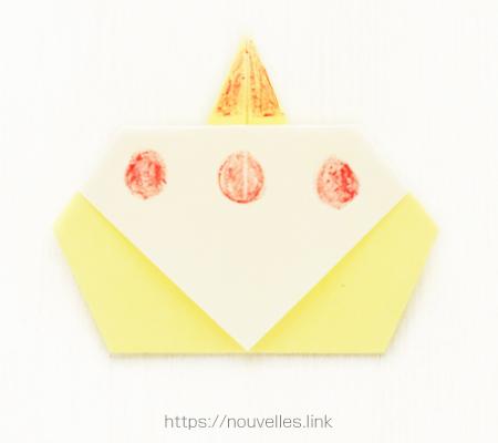 ダイソーの折り紙ブック① はじめてのおりがみ ケーキ