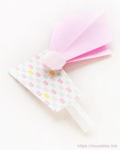 ダイソーの折り紙ブック5 きせつのおりがみ はねつきの羽根