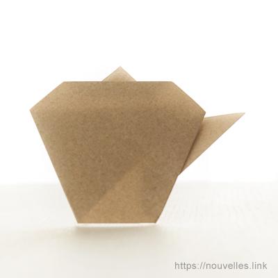 ダイソーの折り紙ブック② かんたんおりがみ ポット