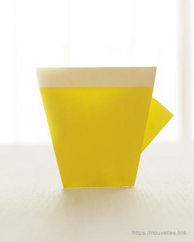 ダイソーの折り紙ブック② かんたんおりがみ 指人形 カップ