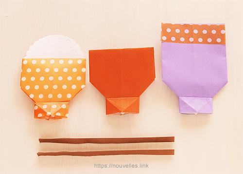 ダイソーの折り紙ブック② かんたんおりがみ ごはんセット