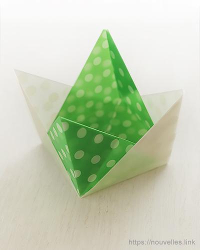 ダイソーの折り紙ブック② かんたんおりがみ コップのコースター