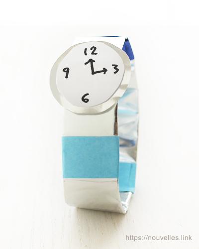 ダイソーの折り紙ブック② かんたんおりがみ 時計
