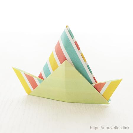 ダイソーの折り紙ブック② かんたんおりがみ 三角帽子