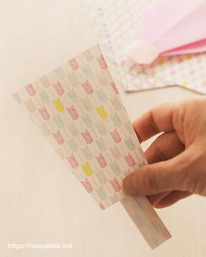 ダイソーの折り紙ブック5 きせつのおりがみ 羽子板