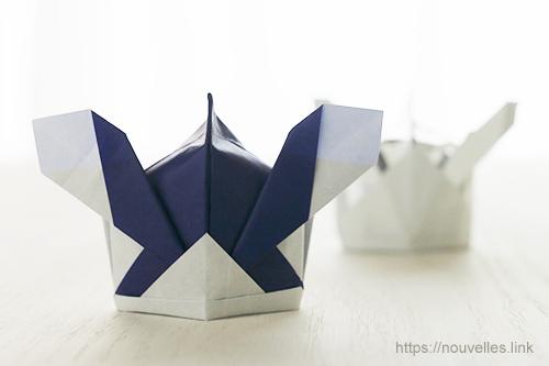 ダイソーの折り紙ブック5 きせつのおりがみ 若武者兜