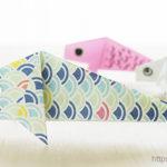 ダイソーの折り紙ブック5 きせつのおりがみ 鯉のぼり