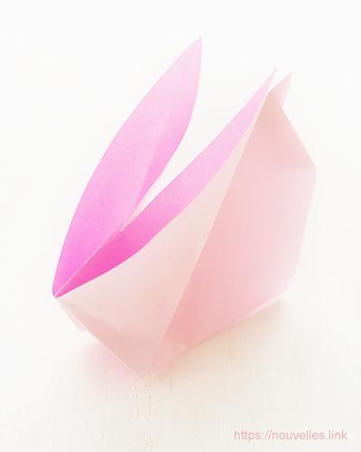 ダイソーの折り紙ブック5 きせつのおりがみ お月見のうさぎ