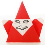 ダイソーの折り紙ブック5 きせつのおりがみ ばんざいサンタ