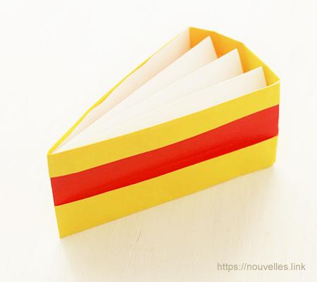 ダイソーの折り紙ブック④ たべものおりがみ ケーキ
