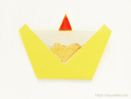 ダイソーの折り紙ブック④ たべものおりがみ カップケーキ