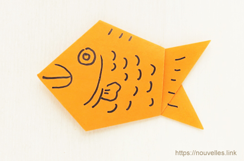 ダイソーの折り紙ブック④ たべものおりがみ たい焼き
