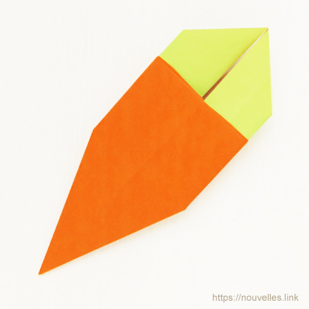 ダイソーの折り紙ブック④ たべものおりがみ 人参