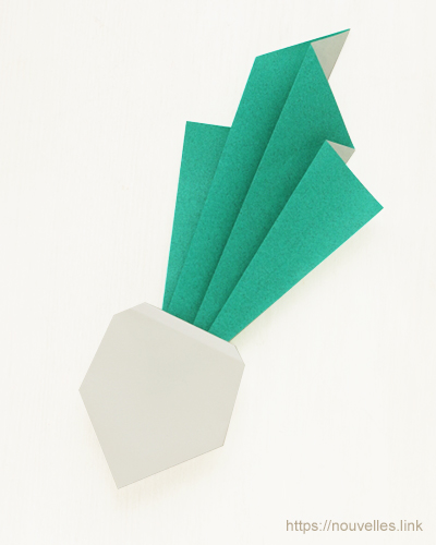ダイソーの折り紙ブック④ たべものおりがみ カブ