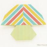 ダイソーの折り紙ブック④ たべものおりがみ キノコ