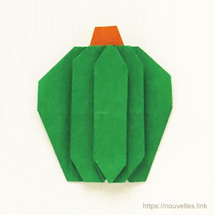 ダイソーの折り紙ブック④ たべものおりがみ 南瓜