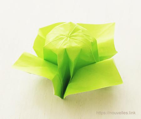 ダイソーの折り紙ブック④ たべものおりがみ キャベツ
