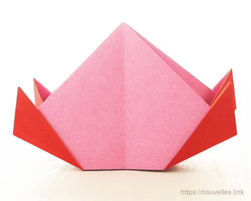 ダイソーの折り紙ブック④ たべものおりがみ 桃